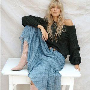 Anthropologie Regan Tiered Maxi Skirt
